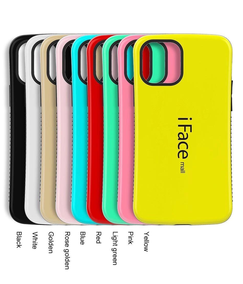 iFace Mall Heavy Duty Case antichocs PC dur cas de téléphone pour Iphone 7 8plus x XR Xs Max 11 11 12 12 Pro Mini Samsung S20 S20 ultra