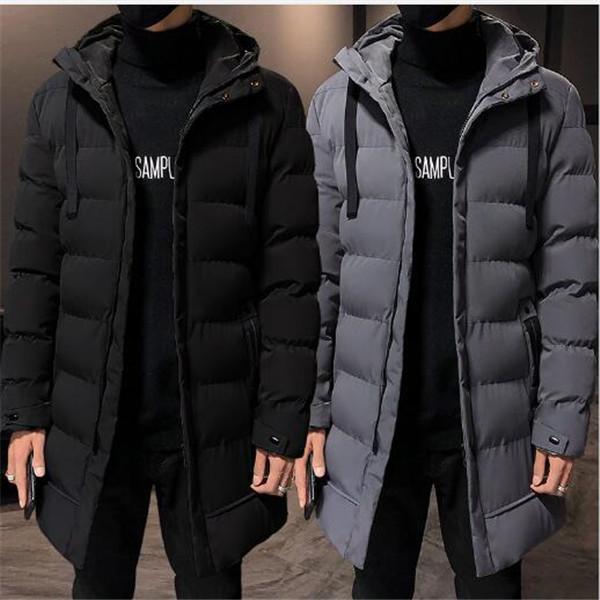 2020 invernale di media lunghezza caldo di spessore nuovi uomini cappotto con cappuccio imbottito sciolto giacca invernale imbottita giacche parka tuta sportiva