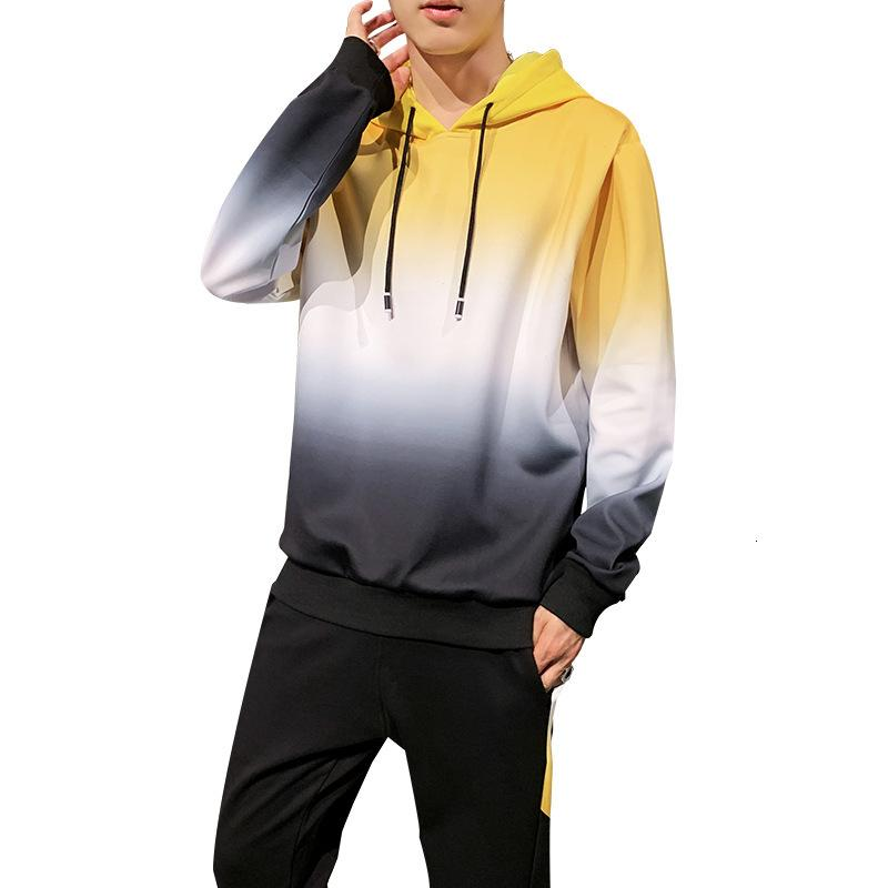Amber Heard uomini di sport Primavera Autunno con cappuccio Felpe + pantaloni della tuta del vestito di pendenza insieme a due pezzi Tuta per Men Abbigliamento