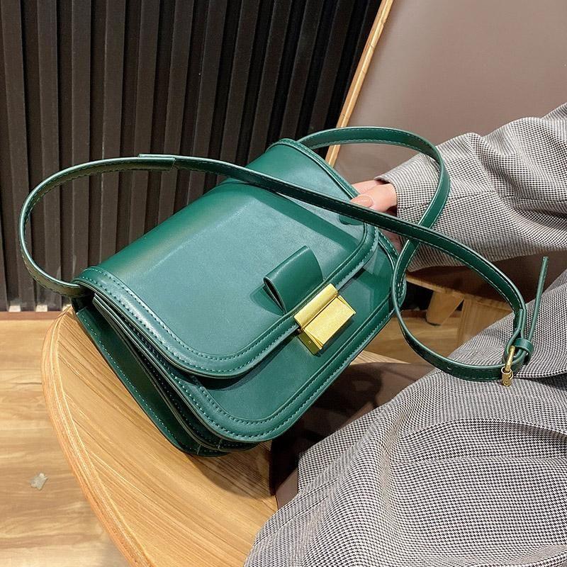 Bolsa de hombro de cuero de diseño Bolsas de PU para Crossbody 2021 Bolsos Simple Lady Purse Tendencia Pequeña y Mujer Tmadm