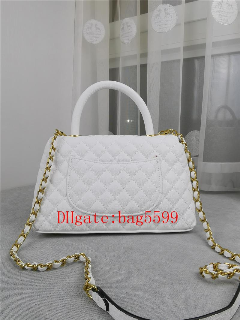 2021 المد يد حقائب اليد الحقيبة الفاخرة المرأة حقيبة جلدية سلسلة معدنية حقائب فتاة عالية السعة الكافيار حقيبة الشبكة