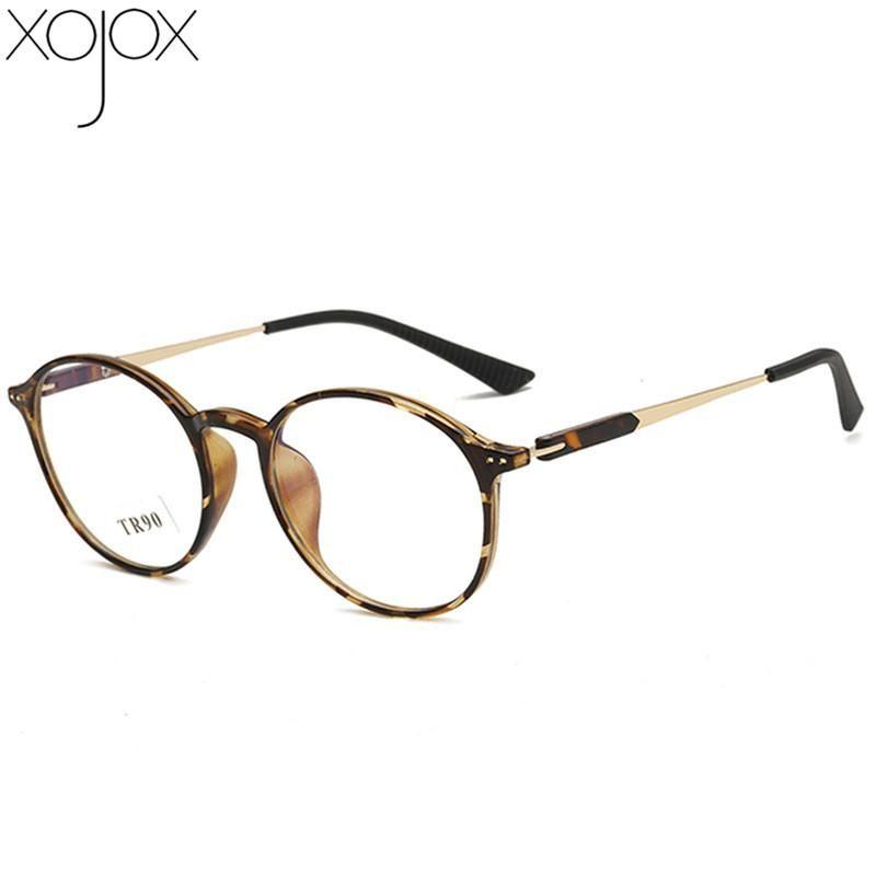 XojoX TR90 Prescription Optical Frame Lunettes Femmes Hommes Vintage ronde plein cadre Myopie Lunettes Lunettes Nearsighted