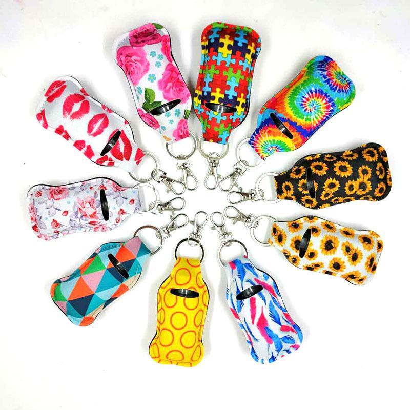 40 modelli di modelli di stampa per la stampa Hand Sanitizer Holder Capstick Holder Keychain Girl Chapstick Rossetto Portachiavi per Party Favors Party Regalo