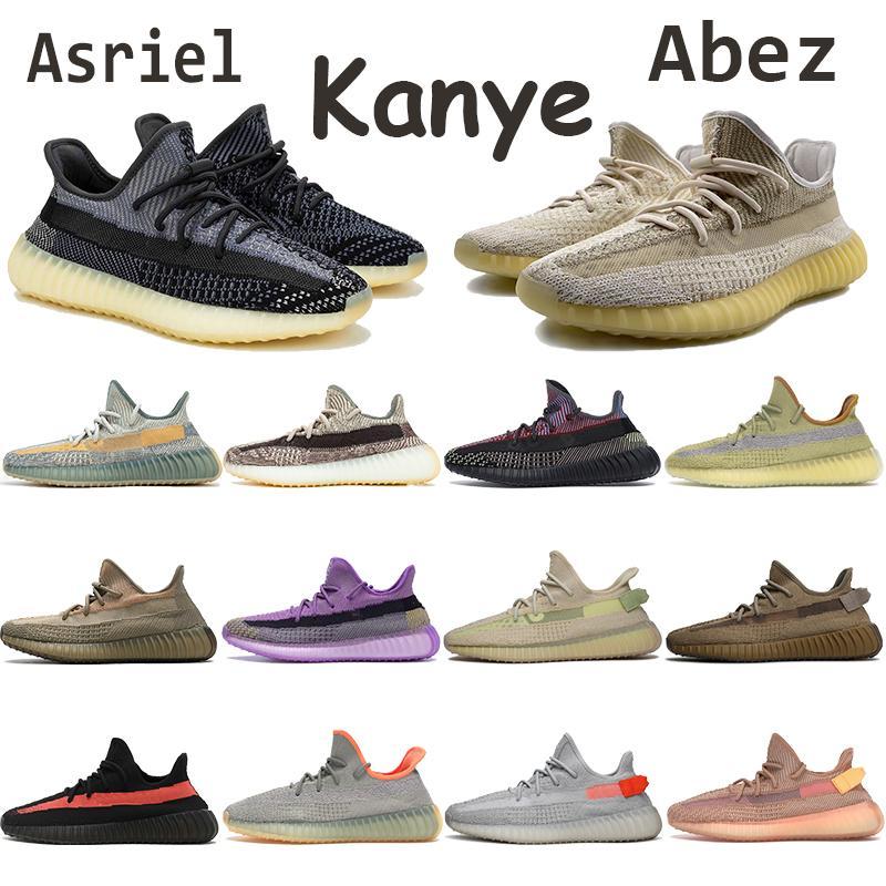 Abez Eliada Kanye Men Running Shoes Asriel Earth Israfil Zyon Linen Marsh Cinder Yecheil Yeshaya Black Reflective Chaussures Women Sneakers