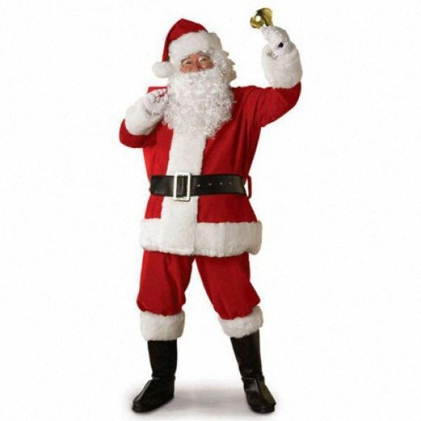 Costume della Santa Costume Christmas Santa vestito degli adulti Cosplay Natale Natale Set per il partito Cosplay WTAy #