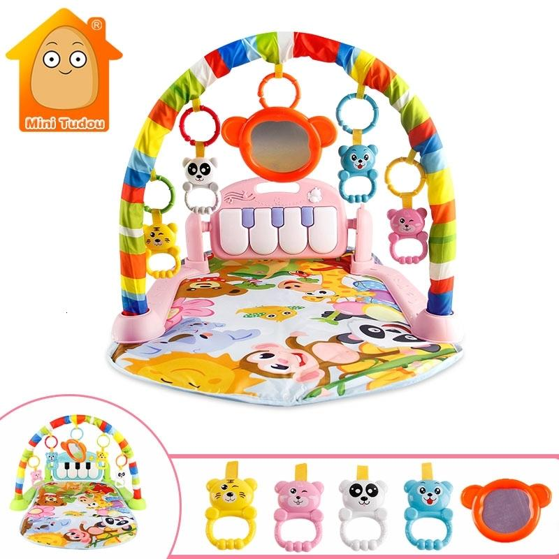 Baby Games Music Kid Crops Toy Clothes Develop Mat with Piano Sewing Tape Early Education Rack Toys