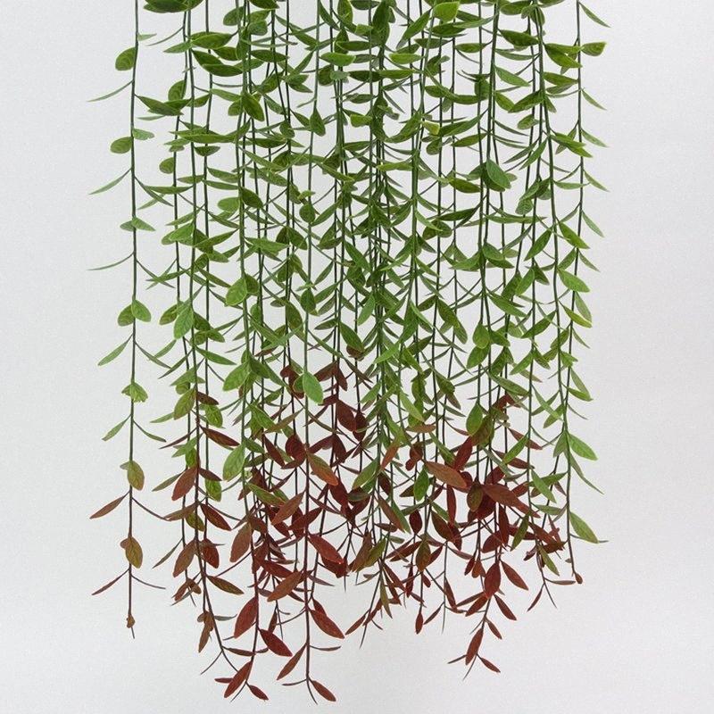 105cm Artificial real toque Pine Needle Tapeçaria planta verde folhas de videira simulação Banquete de casamento Casa Decoração Wall F9Gd #