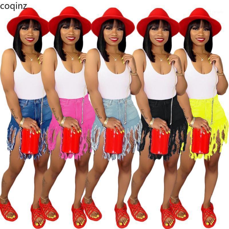 Tallas grandes Jeans Denim Romificado Mujeres Tassel Jeans Pantalones Pantalones Para Mujer Casual Streetwear Ladies Femme Vaqueros Mujer S35531