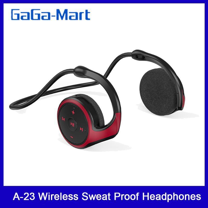 A-23 Wireless-Sweat Proof Kopfhörer Bluetooth 5.0 Musik HD Anruf mit Rauschunterdrückung Mikrofon für Fahren Radfahren