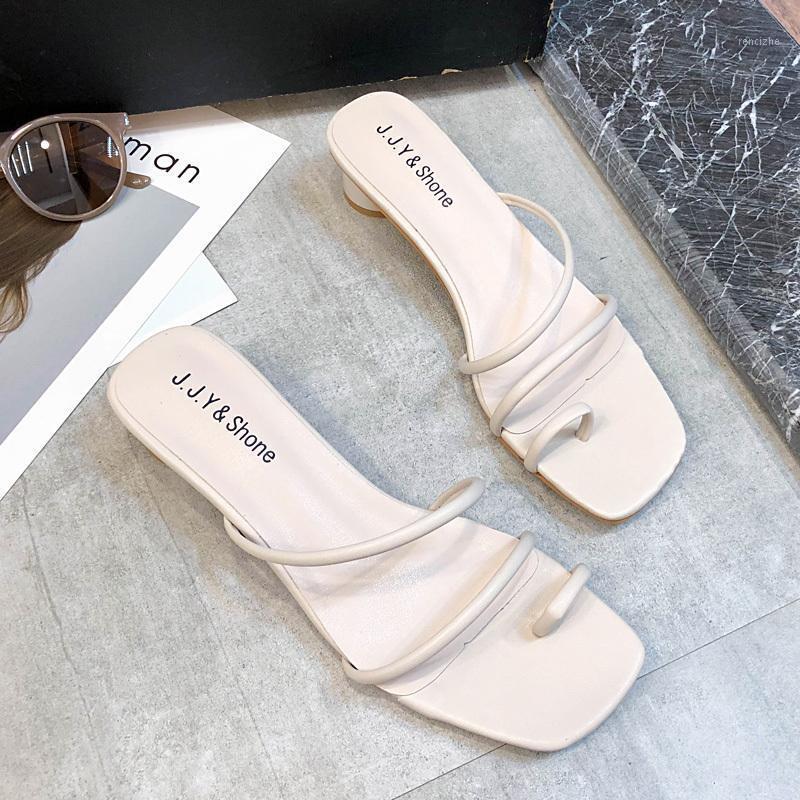 Тапочки скользят на сандалии на высоких каблуках Женщины Красочные Дамы Летние Обувь 2021 Классики Ремешок Леди1