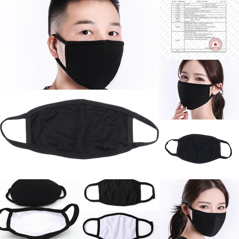 Maske Schwarz Wiederverwendbare Baumwollmaske Tuch Klassische Mode Staubdichte Gesichtsmasken Für Waschbare Mann Frau Schutz Produw1