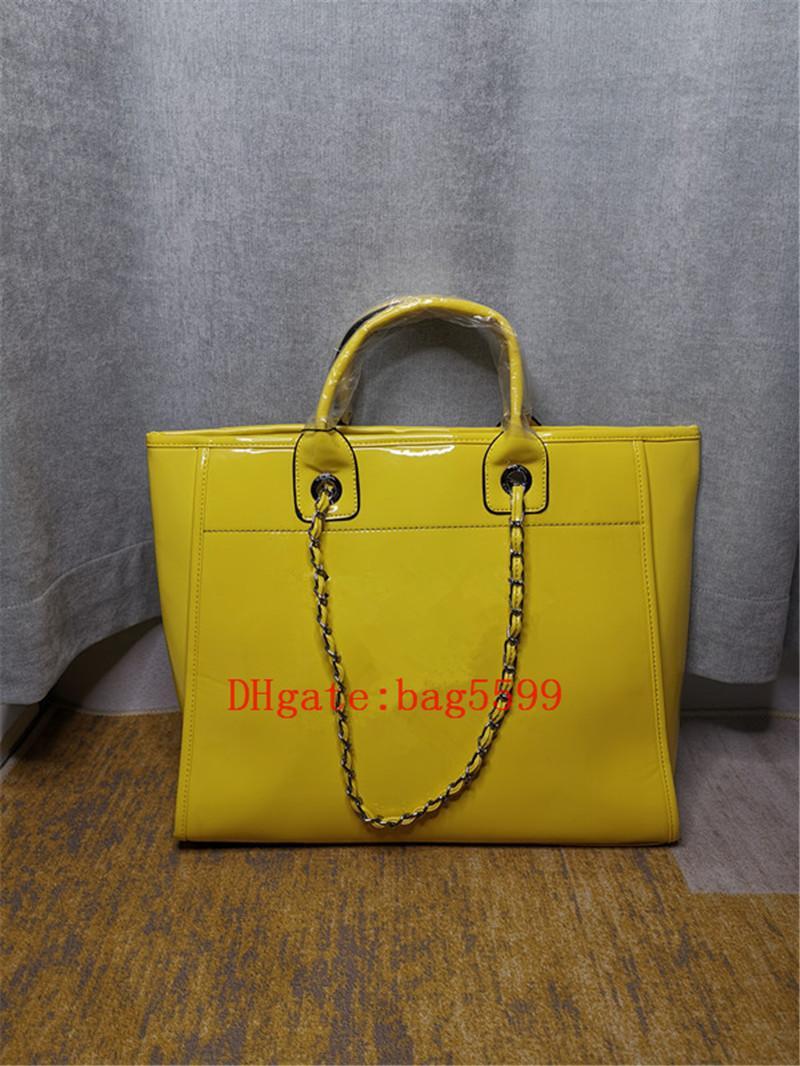 المرأة حقيبة يد كبيرة حقائب الكتف السيدات أزياء قماش جودة عالية فتاة براءات الاختراع الجلود النسيج سلسلة تخزين حقيبة