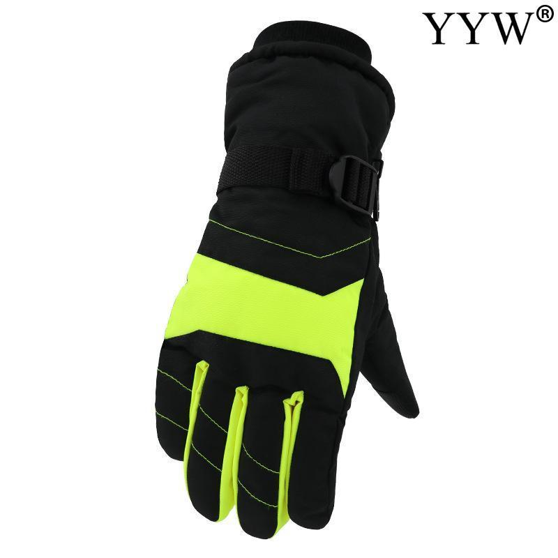 Ski Gloves 4 Color Velvet Thicken -30 Degree Anti-Slip Waterproof Warm Winter Men Male Snowmobile Motorcycle Black Snow
