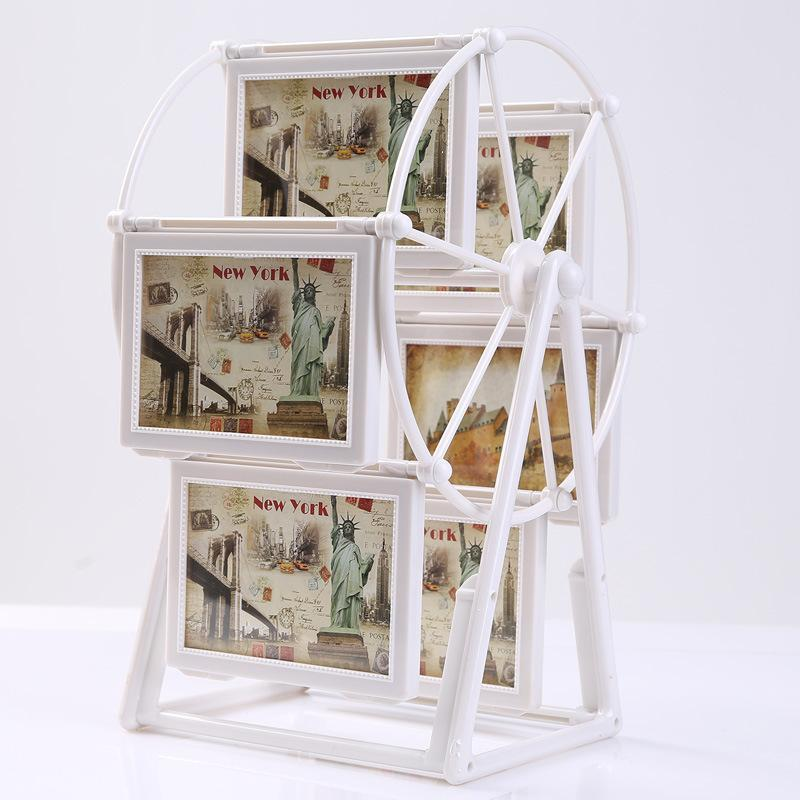 Quadros Creative Plastic Retro PO Quadro Ferris Wheel Windmill Combinação Embossed Imagem Grupo