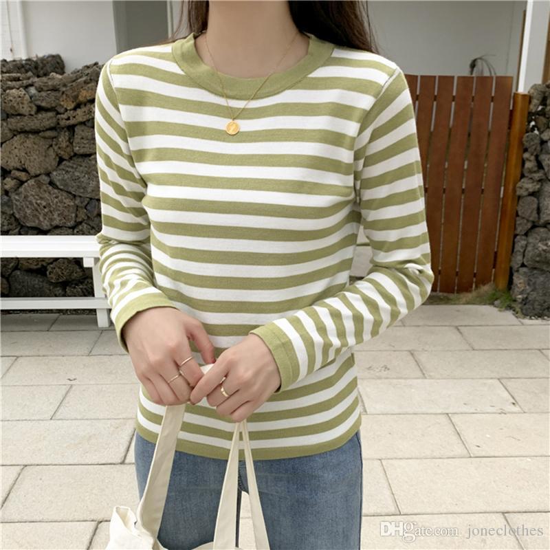 O cou froncé femme pull haut élastique solide 2020 automne hiver pull chandail femme mince slim sexy tricoté pulls pull femme