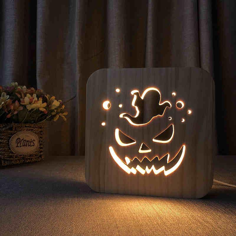 Não venda Halloween Abóbora forma USB LED luz criativa lâmpada simples e romântico FS-T1809W Frete grátis