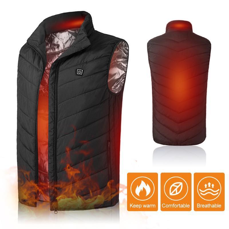 Открытый футболки 2021 с подогревом жилетной куртки моющиеся USB зарядки нагрев теплые термальные одежды кемпинг походы на гольф охота на гольф