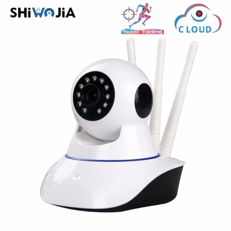 SHIWOJIA 1080P Nuage Caméra IP sans fil de suivi automatique Accueil Sécurité Surveillance vidéo IR vision nocturne CCTV Caméra moniteur pour bébé
