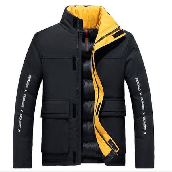 Giacca collo alto 2020 maschile autunno inverno imbottita formato più tutto-fiammifero casuale di tendenza PIUMINI Cappotti Parka