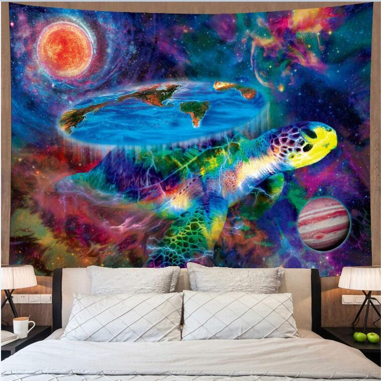 Psychedelic Hippie Tapestry Wall Hanging Cloth parete Bohemian Skull Sun Arazzo Boho Decor Turtle Trippy ARAZZO tappeto