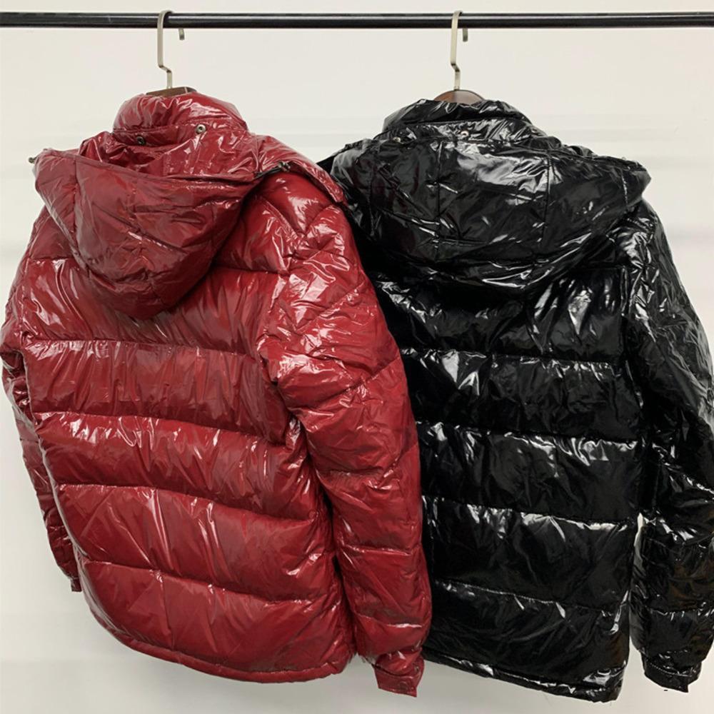 ceket kadın ve erkek çift kalın kısa bölüm parlak kapüşonlu sıcak ekstra kalın soğuk XAVW aşağı doudoune Erkekler kış ceket yeni parlak yüzü