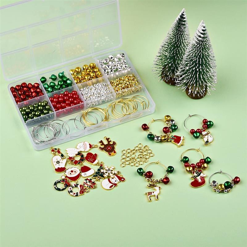 470pcs Weihnachtszauber Weihnachtsmann-Weihnachtsbaum-Anhänger Weihnachtsdekorationen für Haus Noel Navidad 2020 Ornamente Geschenk