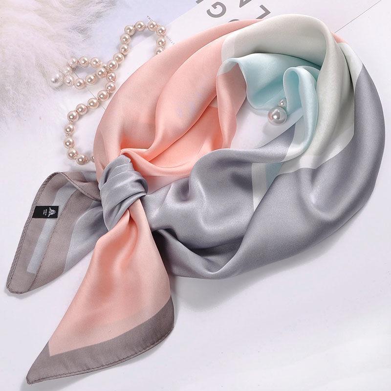 Pequeno cachecol quadrado feminino feminino cleorean pequeno vestiário de pescoço de pescoço de verão decorações do lenço do outono e inverno All-match1