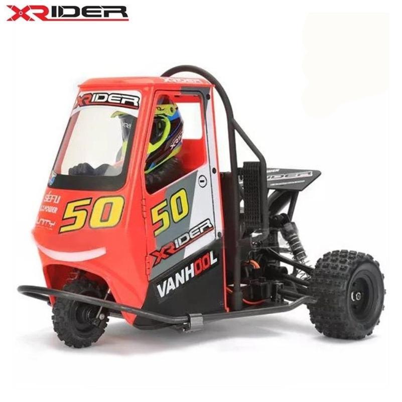 RC Car Пульт дистанционного управления Автомобиль 2. X-Rider 1/8 Piaggio APE 1: 8 Детские аккумуляторы Дрифт автомобили RTR LJ200919