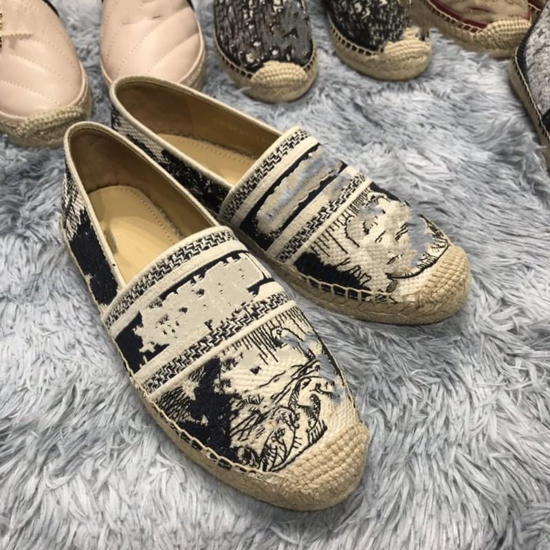2020 New Luxury Designer Women Granville Espadrilles Fashion Platform Women Fisherman Shoes Oblique Espadrilles Multiple colors with box