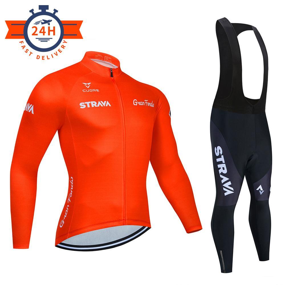 Nouveau 2020 Strava Hommes Cyclisme Vélo à manches longues Cyclisme Jersey Vélo Vêtements Vélo Vélo Vélo Vélo Maillot Ropa Ciclismo Vêtements de vélo C0123