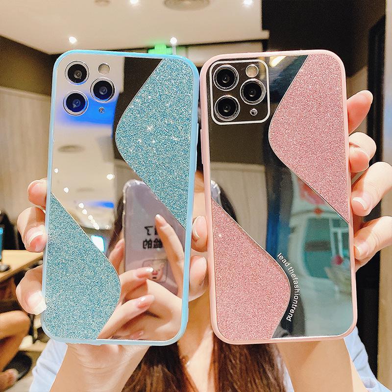 Neue Arten Spiegel TPU Diamanten Spiegelschale Handyfall Luxus für iphone 12 mini 11 pro max xr xs x 8 7 6 Plus Galvanisierter