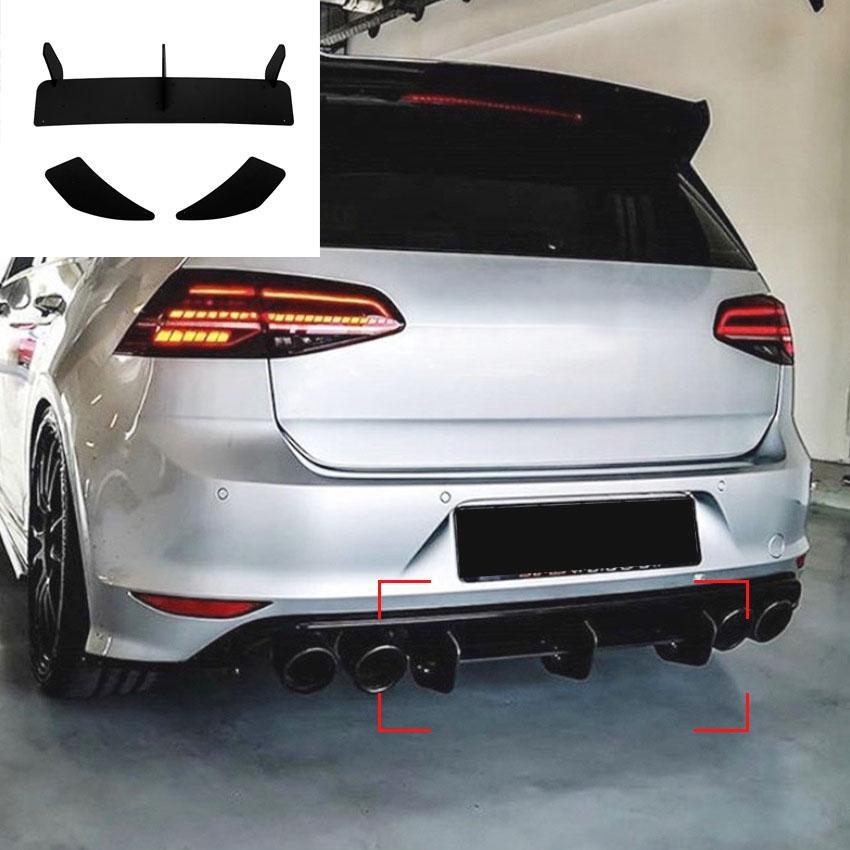 Автомобиль укладки хвостовой горловой каркас украшения наклейки наклейки отделку для Volkswagen Golf 7r