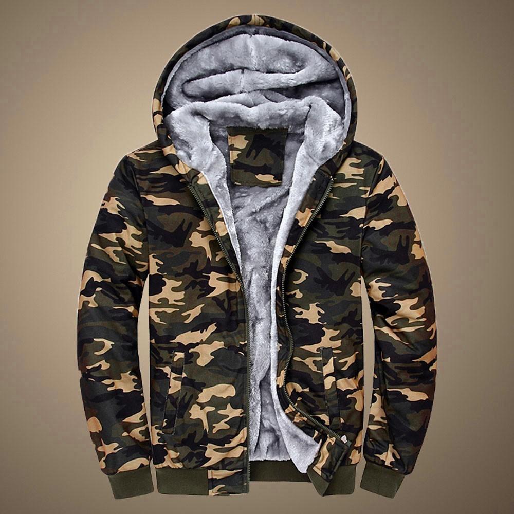 Jaycosin Большой размер Зимние Повседневная Мужская толстовка с капюшоном Куртки с капюшоном Пальто Человек Coodi Теплый плюс толстые флисовые толстовки