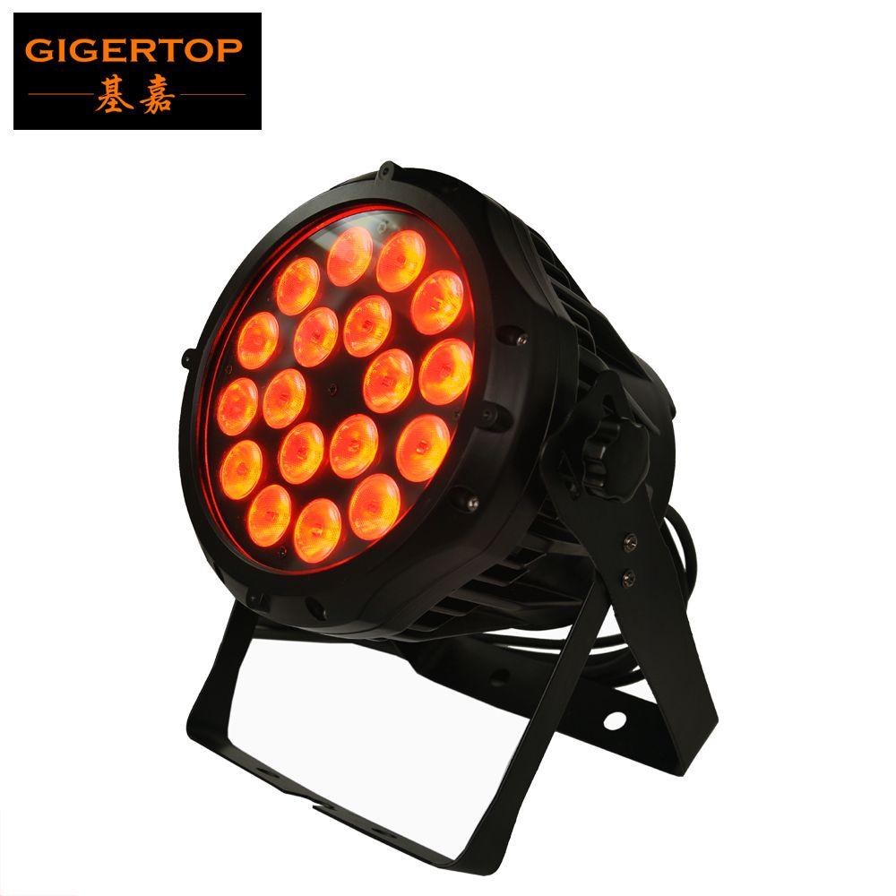 알루미늄 케이스 18x12W RGBW는 4IN1 LED 파 64 빛 방수 형 IP65 물 수준의 야외 DMX는 파 캔 AC110V-240V를지도에 저항