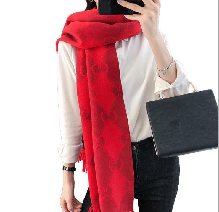 bufanda de cachemir cálido, los hombres y las mujeres usan una cálida gruesa bufanda, bufanda de las mujeres del diseñador de invierno, mantón, regalos de Navidad L7
