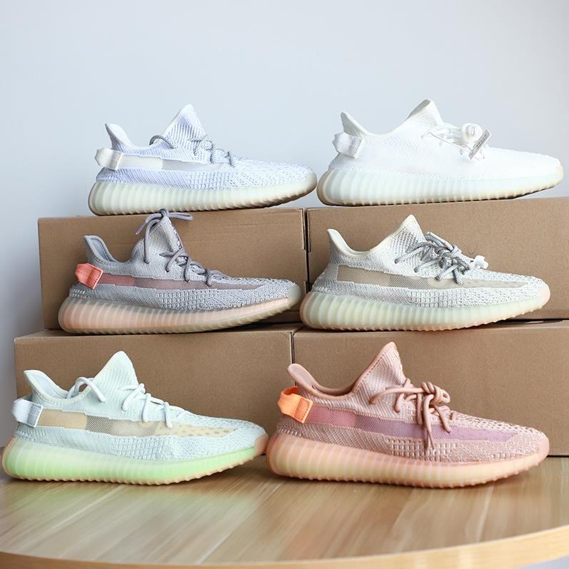 Calidad superior 2021 Kanye West Hombres Mujeres Botas Zapatos Zebra Cinder Tail Light Reflective Israfil Asriel Lino Reparentadores para hombre zapatillas de deporte con caja