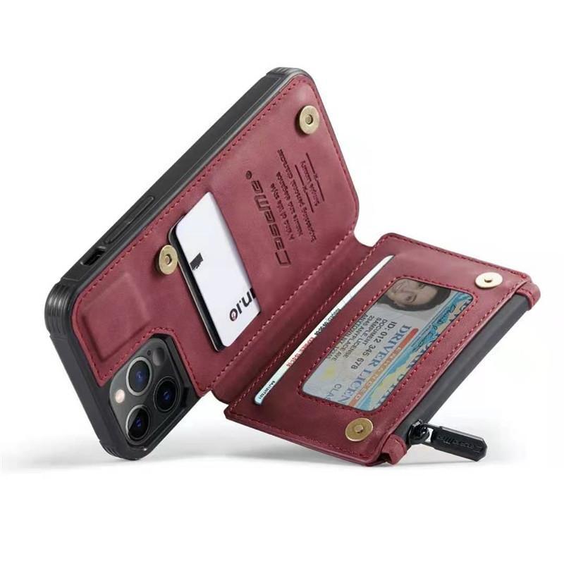 3 in 1 Portafoglio in pelle RFID Card Case Custodia per telefoni cellulari per iPhone 13 12 Mini Pro Max 11 XR x XS 8 7 Plus Samsung S21 S20 Nota20 Ultra