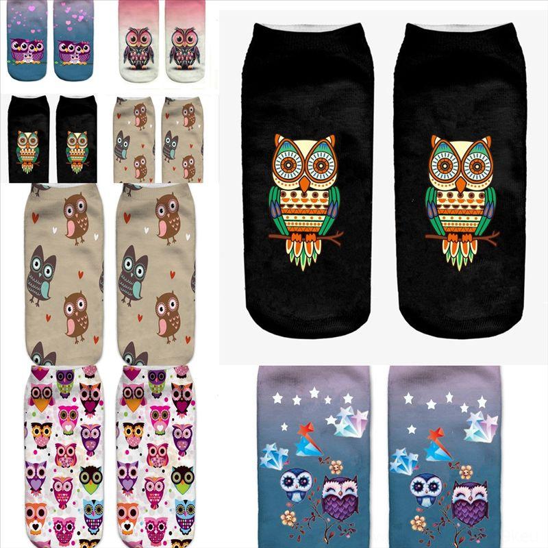 MBSPJ Adorável Imprimindo Meias Meias Cão Animal Imprimir Cat Design Toe Sock Tigre Donut Meias Muitos Padrão de Impressão Listrada