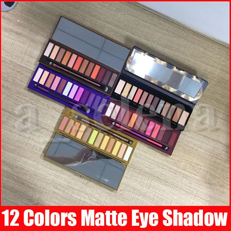 5 Styles Eye Makeup 12 color nude Honey heat Cherry Eyeshadow Palette Natural Matte Shimmer Reloaded Eye shadows palettes
