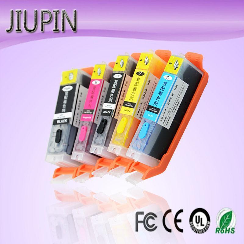 Cartuccia d'inchiostro compatibile Jiupin 5pcs PGI-650XL PGI650 CLI-651 per Canon Pixma IP7260 / MG5460 / MG6360 / MX726 / MX926