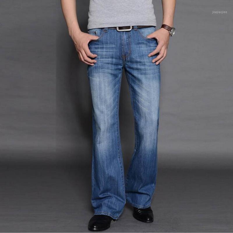 Мужские джинсы свободные большие расклешенные мужские ботинки нарезанные ноги высоко мужской дизайнер классический джинсовый Biker1