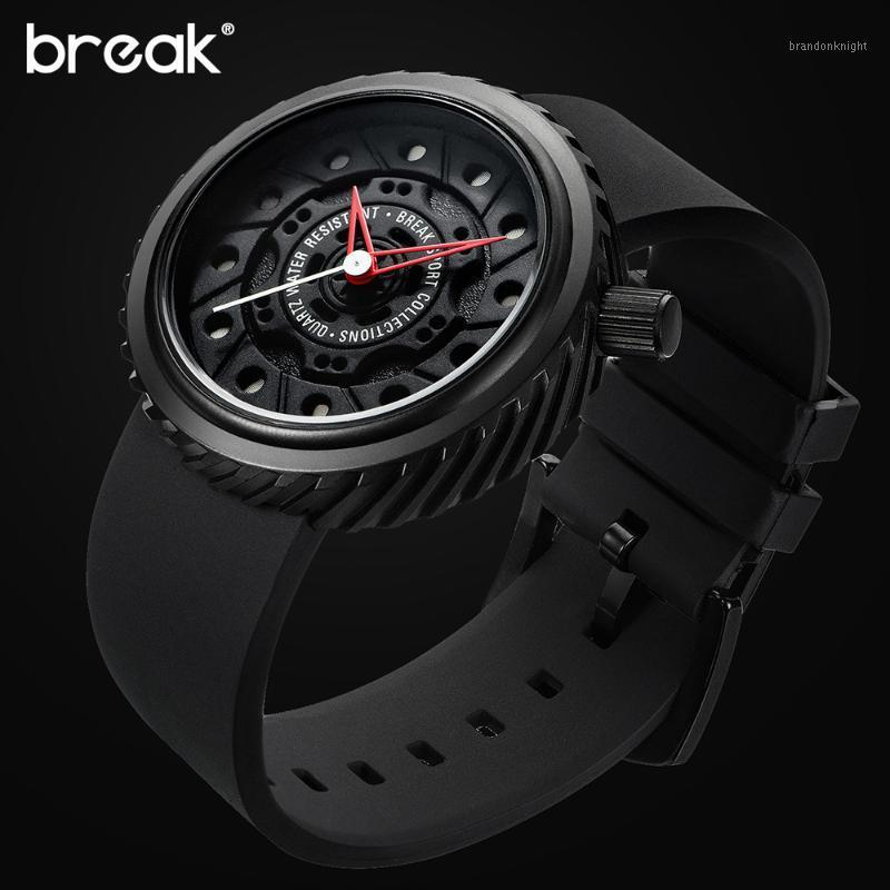 BREAK Top Men Racing Motorcyle Sport Watches Rubber Strap Casual Fashion Passion Waterproof Geek Creative Gift Wristwatch1