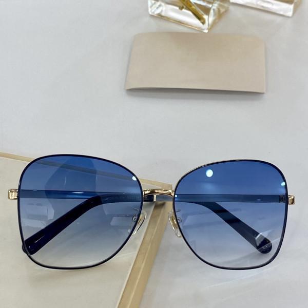 عدسة جديدة GG0706S تصميم أزياء النظارات الشمسية مرتبطة كبيرة الحجم إطار البيضاوي مع صغيرة قناع المسامير GG0706 نظارات حملق شعبية أعلى جودة
