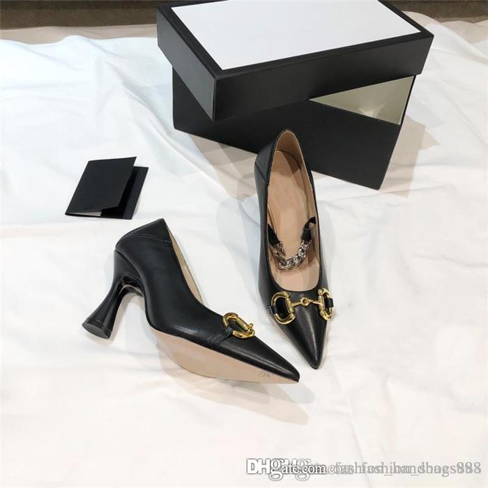 Ladies classic vintage piece, stylish pointed black & white mixed sheepskin heels, with a heel height of 8.5 cm With original box