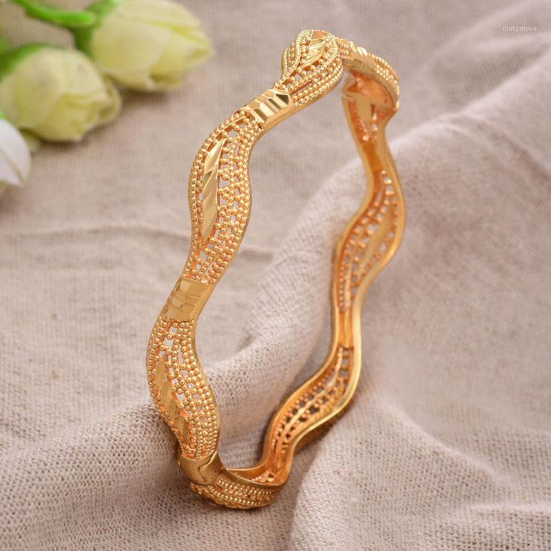 الإسورة 24 كيلو 1 قطعة / الوحدة ذهبي اللون bresslate أساور للنساء أساور حفل زفاف مجوهرات الزفاف Joias أورو سعر المصنع Vint1