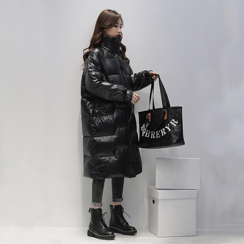 Fitaylor 2020-2021 Lungo rivestimento delle donne il 90% bianco Anatra Parka Nuovo Inverno Blue Coat Femminile Giallo Giù spessore caldo Outerwear