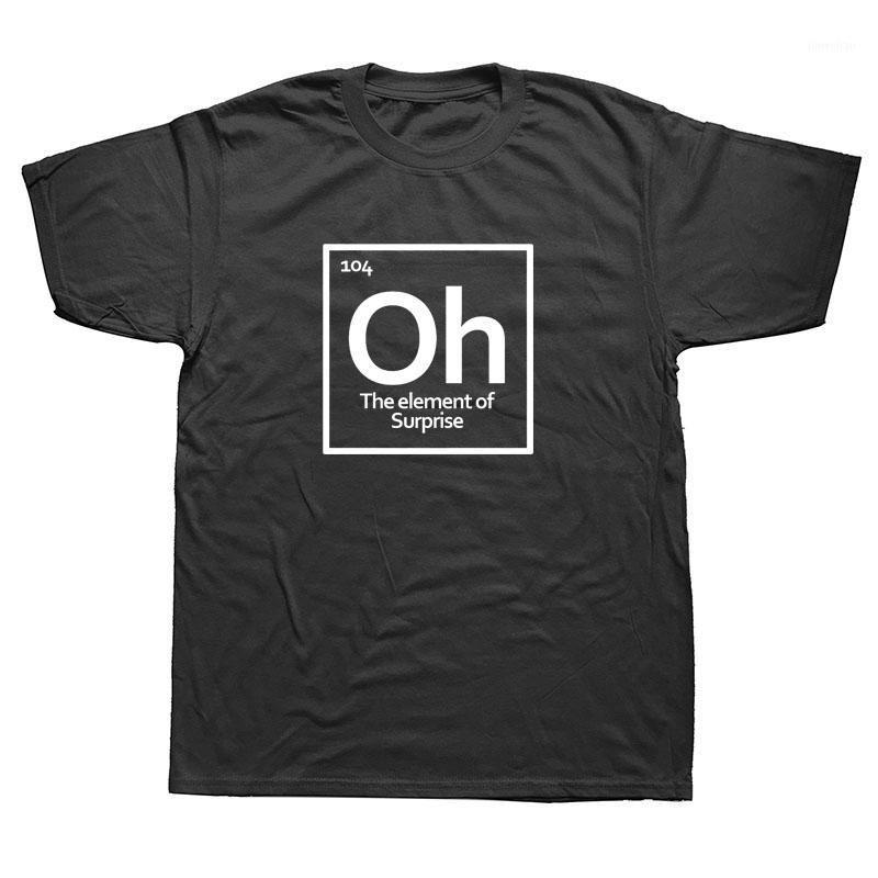Lustige neue OH Überraschung Periodensystem T-shirt Männer Baumwolle Kurzarm Chemie Wissenschaft T-Shirt T-Shirt Camiseta1
