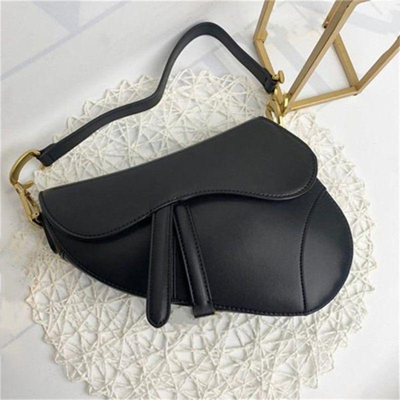 Hakiki Tasarımcı Kalite Eyer Çanta Çanta Çanta Tasarımcılar Lady Mektuplar Lüks Yüksek Deri Omuz Çanta Kokpl
