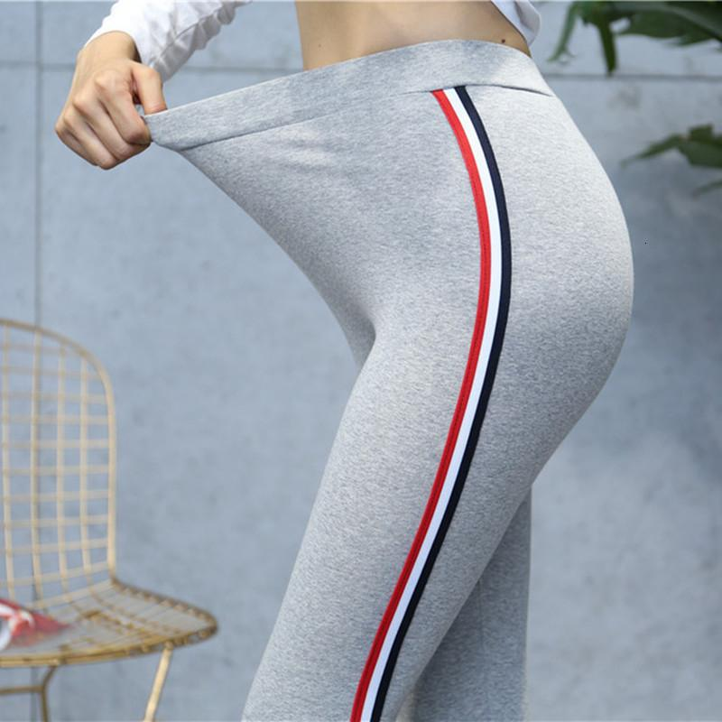 Calidad Gato Leggings Side Stripes Mujeres Casual Legging Broek Plus Tamaño 5xl High Tail Fitness Leggins Mhicky Femen