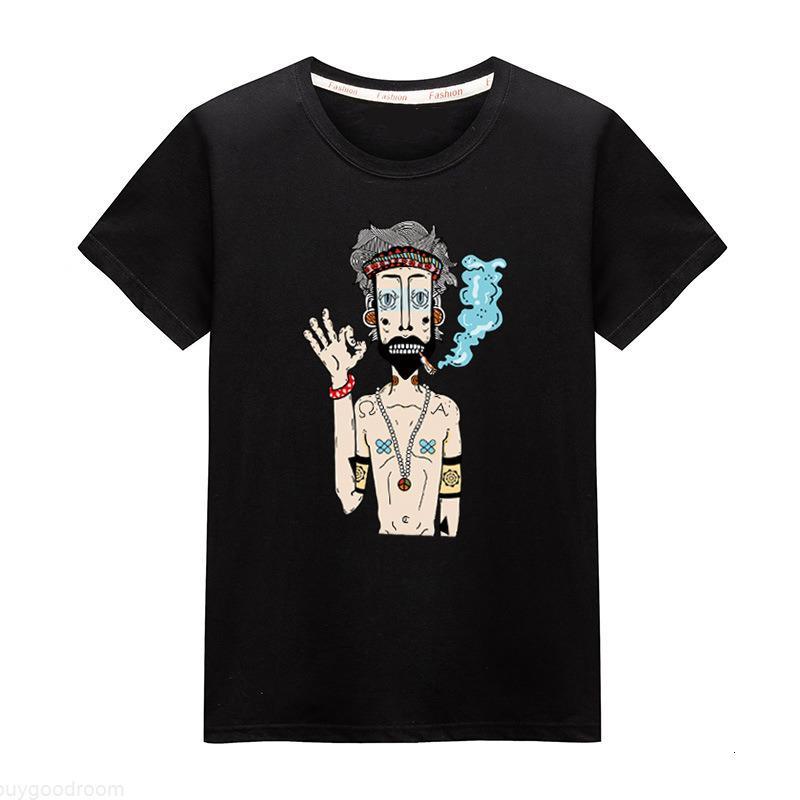 Мужские футболки Отпечатано Дизайнерские Crew Neck Мужская мода Повседневная одежда Футболки Топ с коротким рукавом для мужчин плюс размер